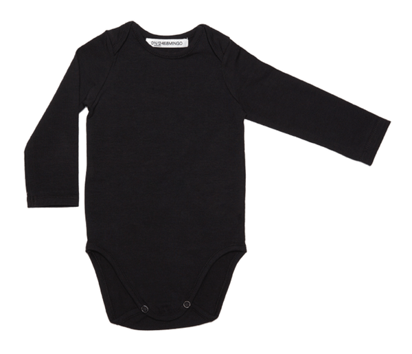 Basic black baby bodysuit onesie