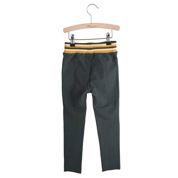 Little Hedonist, baby Faded Black Track Pants - when we wear young