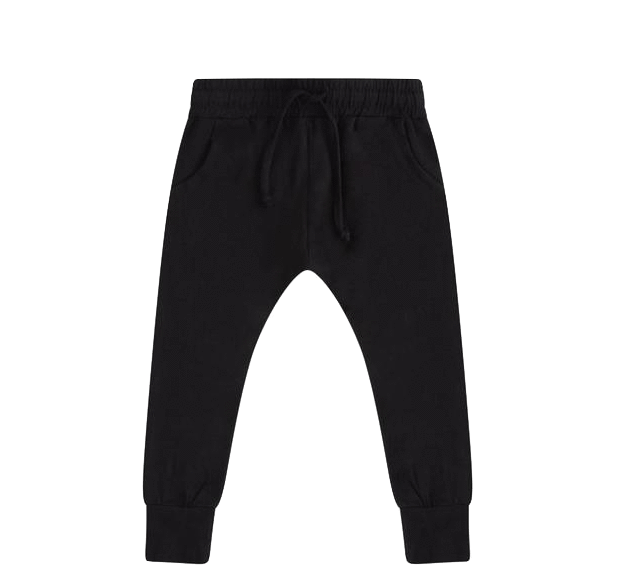 Mingo, baby Black Slim Fit Jersey Jogger - when we wear young