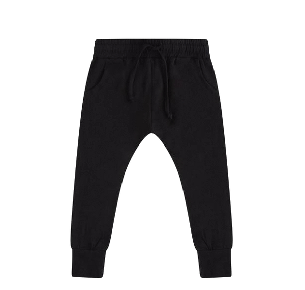 Black Slim Fit Jersey Jogger - Mingo -when we wear young
