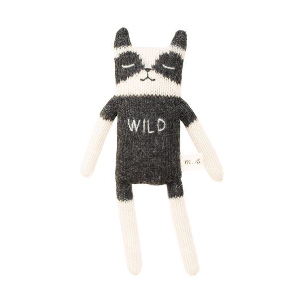 Main Sauvage, baby Alpaca Wool Wild Racoon - when we wear young
