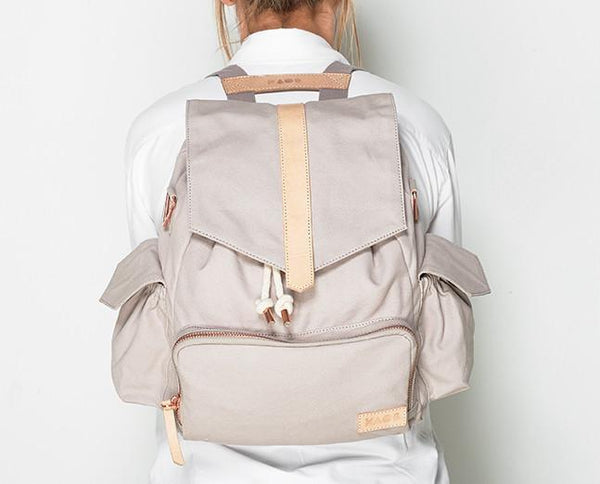 Kaos, baby Light Grey Changing Backpack - when we wear young
