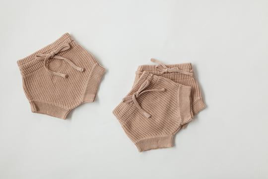 Pink Earth Knit Shorties