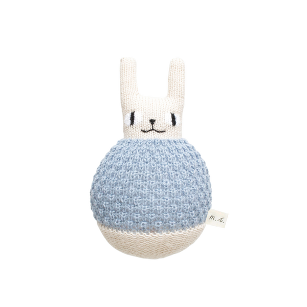 Main Sauvage, baby Roly Poly Blue Rabbit - when we wear young