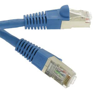 100Ft Cat7 Shielded (SSTP) 600MHz Ethernet Network Booted Cable Blue