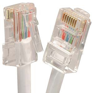 25Ft Cat5E UTP Ethernet Network Non Booted Cable White