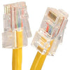 10Ft Cat5E UTP Ethernet Network Non Booted Cable Yellow