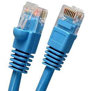 50Ft Cat5E UTP Ethernet Network Booted Cable Blue