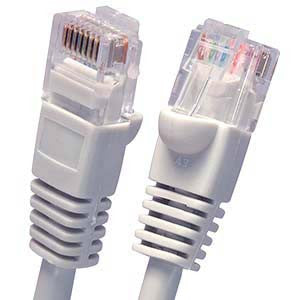 10Ft Cat5E UTP Ethernet Network Booted Cable Gray