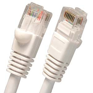 1Ft Cat6 UTP Ethernet Network Booted Cable White