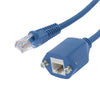 25Ft Panel-Mount Cat.5E Ethernet Cable Blue
