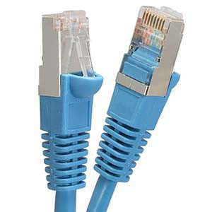 1Ft Cat5E Shielded (FTP) Ethernet Network Booted Cable Blue