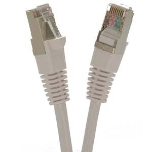 1Ft Cat5E Shielded (FTP) Ethernet Network Booted Cable White
