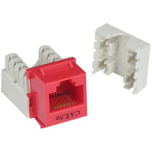 Cat.5E RJ45 110 Type Keystone Jack Red