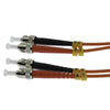 2m ST-ST Duplex Multimode 62.5/125 Fiber Optic Cable