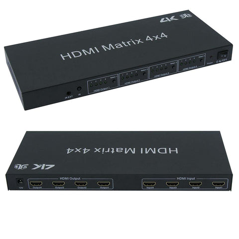 HDMI 4x4 Matrix with IR Remote Control Extension, 3D