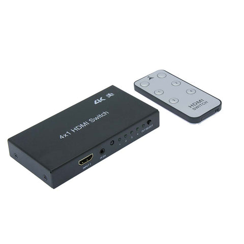 4Way (4-in/1-out) HDMI Switch 4K x 2K 3D with IR Extension