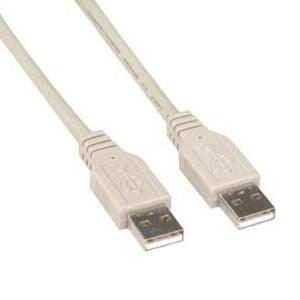 10Ft A-Male to A-Male USB2.0 Cable Ivory