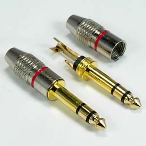 1/4 inch Stereo Metal Plug Gold Plated