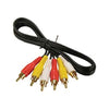 6Ft RCA M/M x 3 Audio/Video Cable Gold Plated