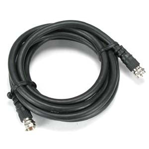 25Ft F-Type Screw-on RG6 Cable Black