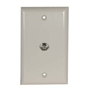 F Coupler Wall Plate White