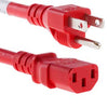 3Ft Power Cord C13-515P SJT 125V 15Amp Red
