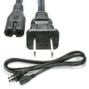 6Ft 2-Prong Figure-8 Power Cord 18/2