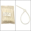 "4"" Nylon Cable Tie 18lbs Clear 100pk"