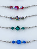 Crystal and Stainless Steel Princess Length Choker