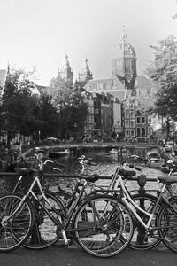 Bikes on Bridge, Amsterdam Netherlands - Travel wall art prints by Edwin Datoc Gallery