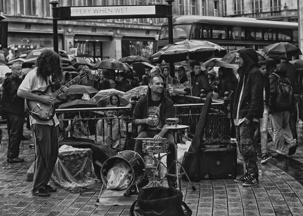 Rain Jam, Oxford Circus, London UK - Travel wall art prints by Edwin Datoc Gallery