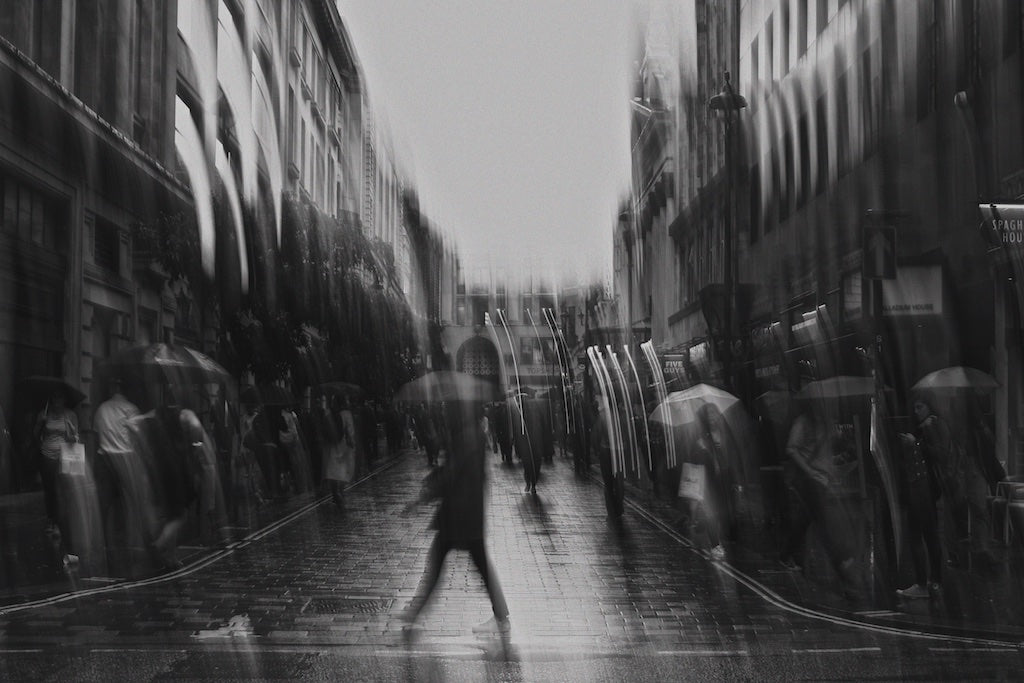 Summer Drizzle, Soho London, UK - Travel wall art prints by Edwin Datoc Gallery