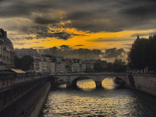 Sunset in Paris - Travel wall art prints by Edwin Datoc Gallery