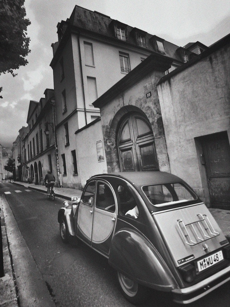 Vintage Citroen, Le Marais, Paris France - Travel wall art prints by Edwin Datoc Gallery