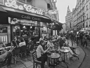 Cafe Conti, Rue de Buci, Paris France - Travel wall art prints by Edwin Datoc Gallery