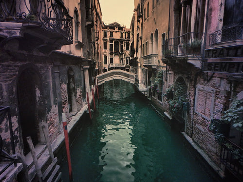 Shades of Dawn at Rio de Noal Canal, Venice Italy - Travel wall art prints by Edwin Datoc Gallery