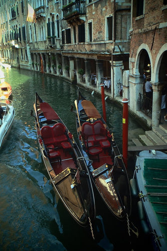 Gondola Pair, Venice Italy - Travel wall art prints by Edwin Datoc Gallery