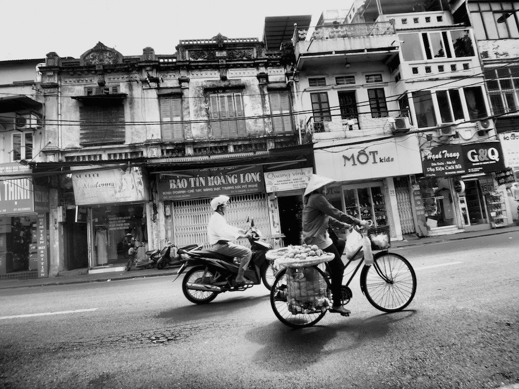 Early Riders, Hanoi Vietnam - Travel wall art prints by Edwin Datoc Gallery