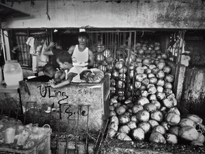 Coconut Man with sons, Manila Philippines - Travel wall art prints by Edwin Datoc Gallery