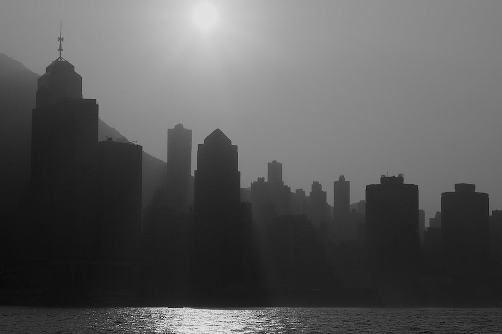Cityscape Sundown 1/2, Hong Kong - Travel wall art prints by Edwin Datoc Gallery