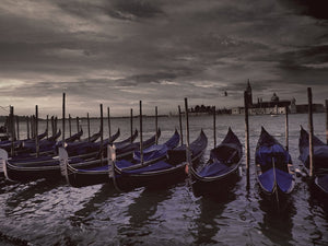 Gondolas, Venice, Italy - Travel wall art prints by Edwin Datoc Gallery