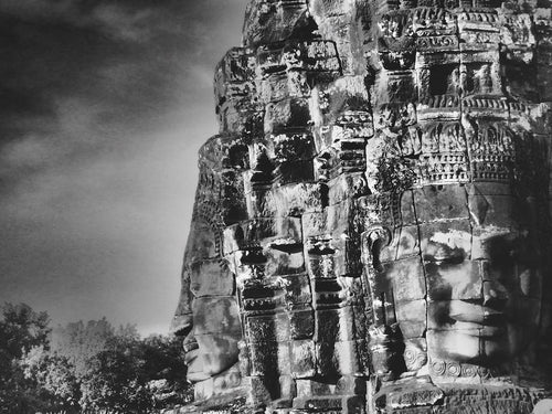 Head Stone, Angkor Wat, Cambodia - Travel wall art prints by Edwin Datoc Gallery