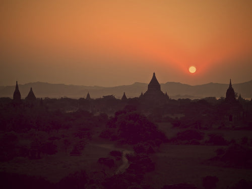 Sundown , Bagan Myanmar - Travel wall art prints by Edwin Datoc Gallery