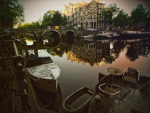 Canal Twilight, Amsterdam - Travel wall art prints by Edwin Datoc Gallery