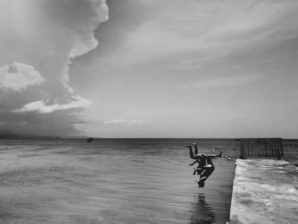 Flip Duo at Doctor's Cave Beach, Montego Bay Jamaica - Travel wall art prints by Edwin Datoc Gallery
