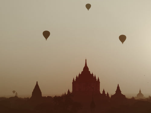 Sunrise Balloons, Bagan Myanmar - Travel wall art prints by Edwin Datoc Gallery