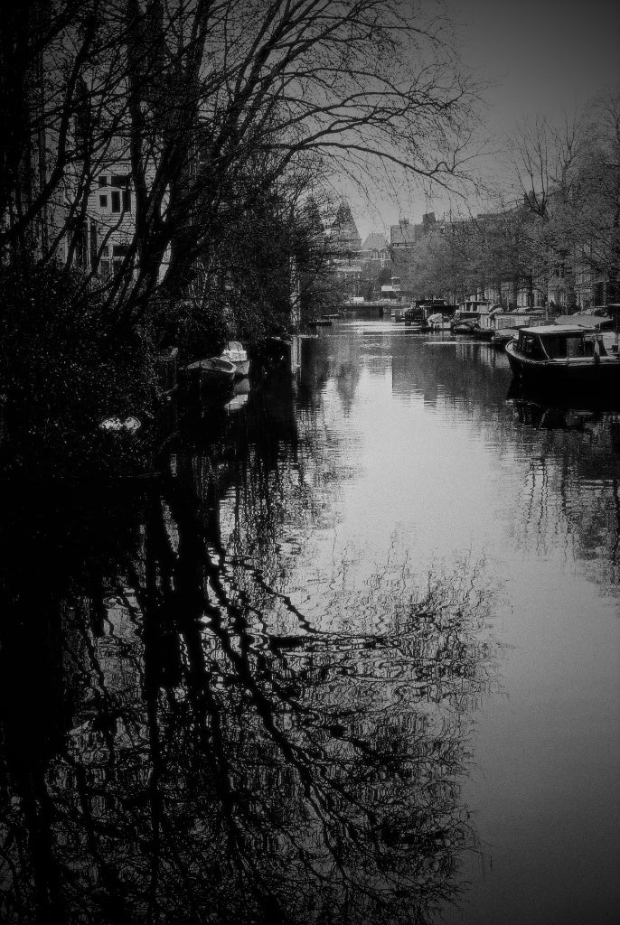 Morning At Canal, Amsterdam, Netherlands - Travel wall art prints by Edwin Datoc Gallery
