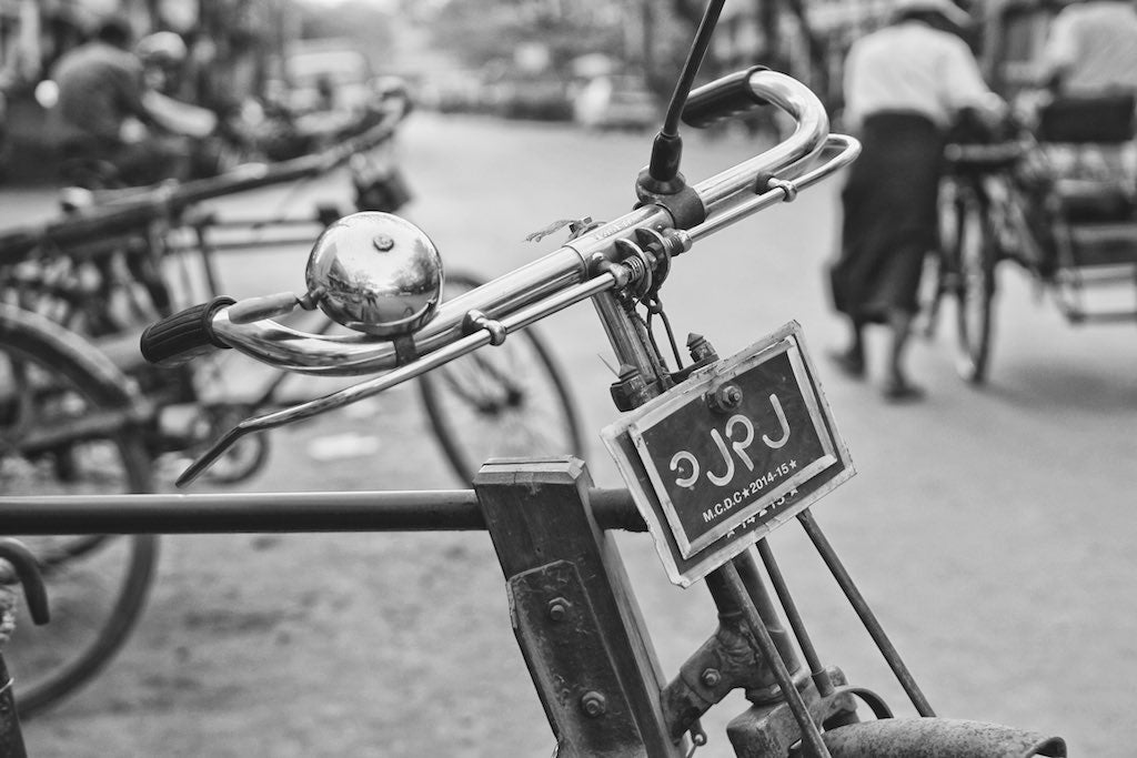 Burmese Bike, Mandalay Myanmar - Travel wall art prints by Edwin Datoc Gallery
