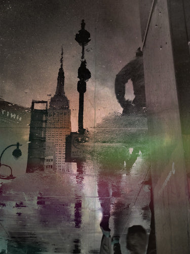 Rain Stain 2/2, Manhattan New York USA - Travel wall art prints by Edwin Datoc Gallery